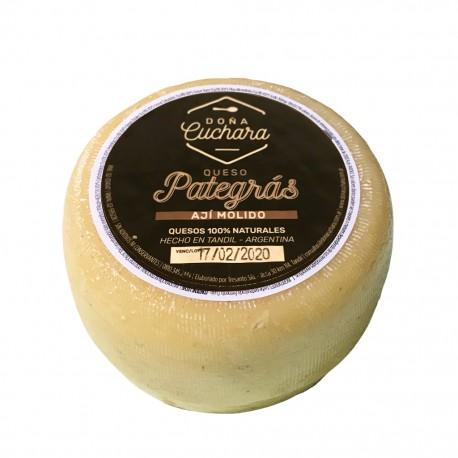 Queso Pategras con Albahaca Organico x 300grs.
