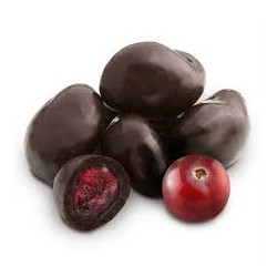 Cranberries bañados con chocolate x 250 grs.